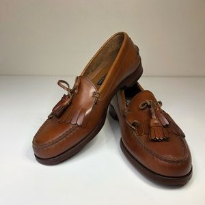 POLO by Ralph Lauren mens brown leather loafers